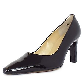 Peter Kaiser Tosca Classic Pointed Toe Court Shoes In Black Patent