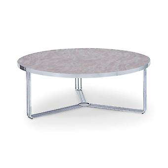 Gillmore Deco - Large Circular Coffee Table With Various Stone Tops And Frame Colour Options