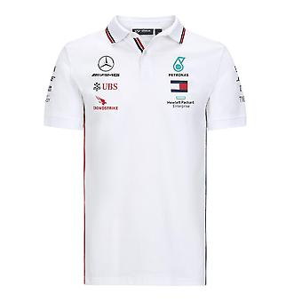 Mercedes AMG Petronas Men's Replica Team Polo Shirt | Weiß | 2020