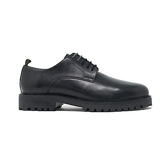 Zapato Walk london sean derby de piel negra