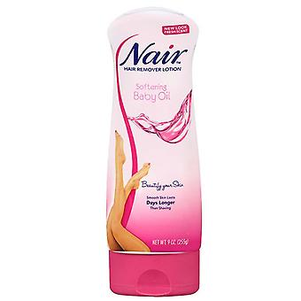 Nair hair remover lotion for body & legs baby oil, 9 oz