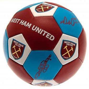 West Ham United Nuskin Football Size 3