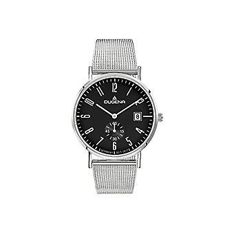 Dugena horloge analoog kwarts mannen met stainless steel band 4460782