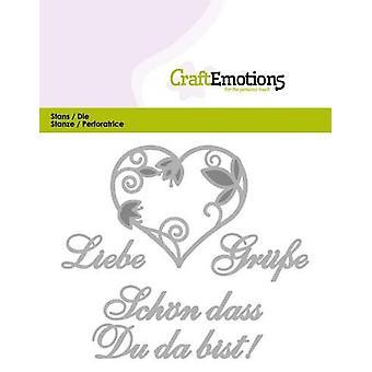 CraftEmotions يموت النص -- Liebe Grüsse (DE) بطاقة 11x9cm