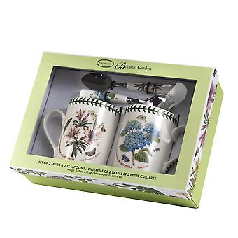 Botanic Garden Mug and Teaspoon Set, Azalea & Hydrangea