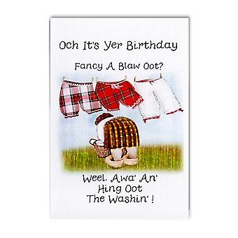 Embroidered Originals Hing Oot The Washin Scottish Birthday Card