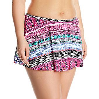 Kenneth Cole RÉACTION Femmes-apos;s Plus-Size Riviera Stripe Flyaway Skirted Bikini...