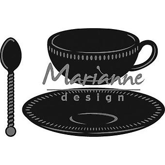 Marianne Design Craftables Cutting Dies - Teacup With Spoon CR1238
