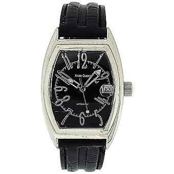 Andre-Dumont Gents Automatic Date Black Crocodile Effect Strap Watch BOXX205