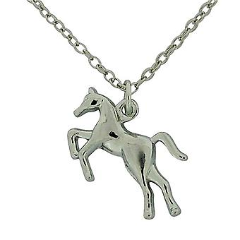 The Olivia Collection Silvertone Horse Pendant on 16 Inch Extendable Chain