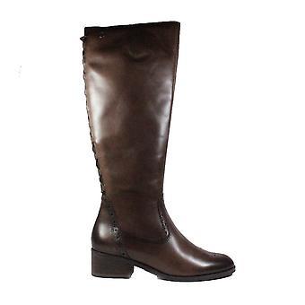 Tamaris 25541 Brown Leather Womens Long Leg Boots