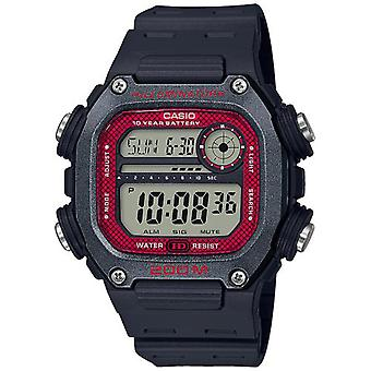 Casio Collection Quarz Digital LCD Zifferblatt schwarz Harz Armband Uhr DW-291H-1BVEF