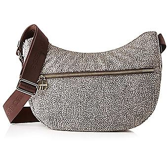 Borbonese Luna Bag Small Women's Shoulder Bag (Classic Op/Brown) 28x24x11 cm (W x H x L)