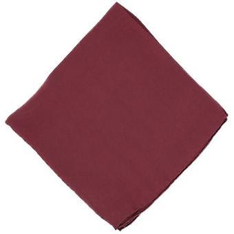 Michelsons of London Plain Silk Handkerchief - Wine Red