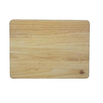 45x35cm houten gebak hakken keuken Board Heavea Rubber hout groot