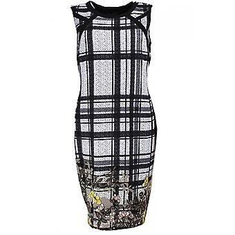 Picadilly Check And Floral Print Dress