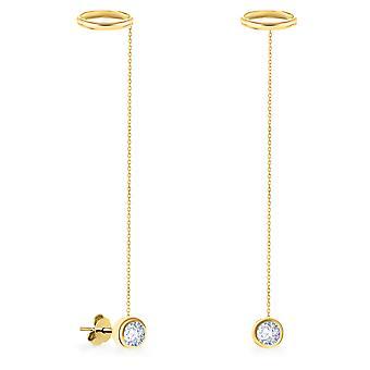 Korvakorut Bohemian Diamond Chain 18K Kulta