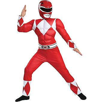 Red Ranger Muscle barn kostym