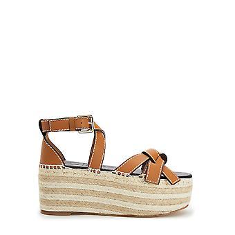Loewe 453103553649 Women's Brown Leather Sandals