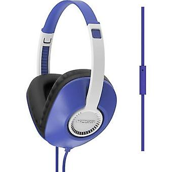 KOSS UR23iB Hi-Fi Over-ear headphones Over-the-ear Headset, Volume control, Noise cancelling Blue
