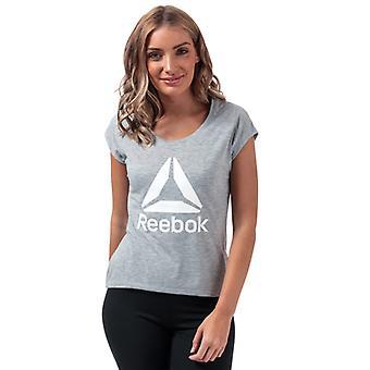 Women's Reebok Workout Supremium 2.0 T-Shirt in Grey
