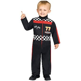 Závodní auto řidič batole kostým
