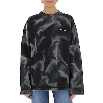 Acne Studios Ai0060black Women's Grijs/zwart Katoen Sweatshirt