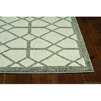 2' x 3' Ivory or Grey Diamond Pattern Accent Rug