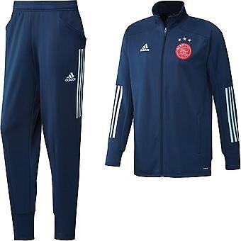 2020-2021 Ajax Adidas PES Tracksuit (Navy)