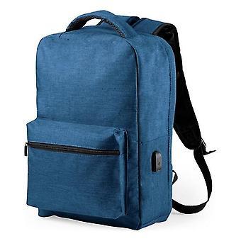 Sac à dos antivol avec USB, Bleu
