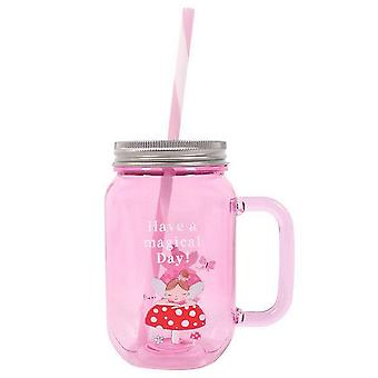 Something Different Fleur Pink Drinking Jar