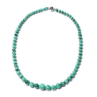 "Bead Strand Sterling Silver Necklace for Women Malachite Size 20"", 305.5 Ct TJC"