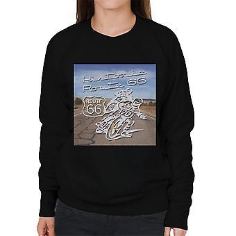 Route 66 historiska motorcyklar Women ' s Sweatshirt