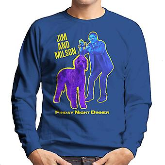 Friday Night Dinner Jim And Wilson Blue And Purple Men's Sweatshirt