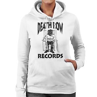 Death Row Records stoel Logo Black Women's Hooded Sweatshirt