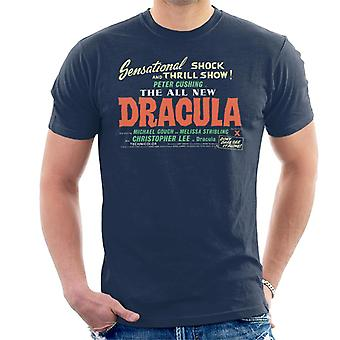 Hammer Horror Films Dracula Shock And Thrill Show Men's T-Shirt