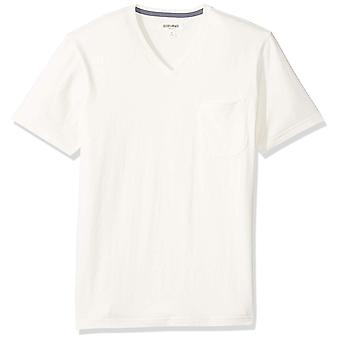 Goodthreads Men's Short-Sleeve Sueded Jersey V-Neck Pocket T-Shirt, White, La...
