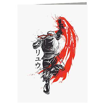 Traditional Fighter Ryu Street Fighter Greeting Card