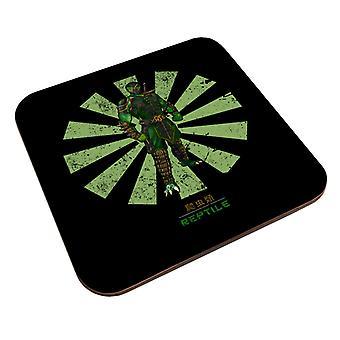 Reptile Retro Japonés Mortal Kombat Coaster