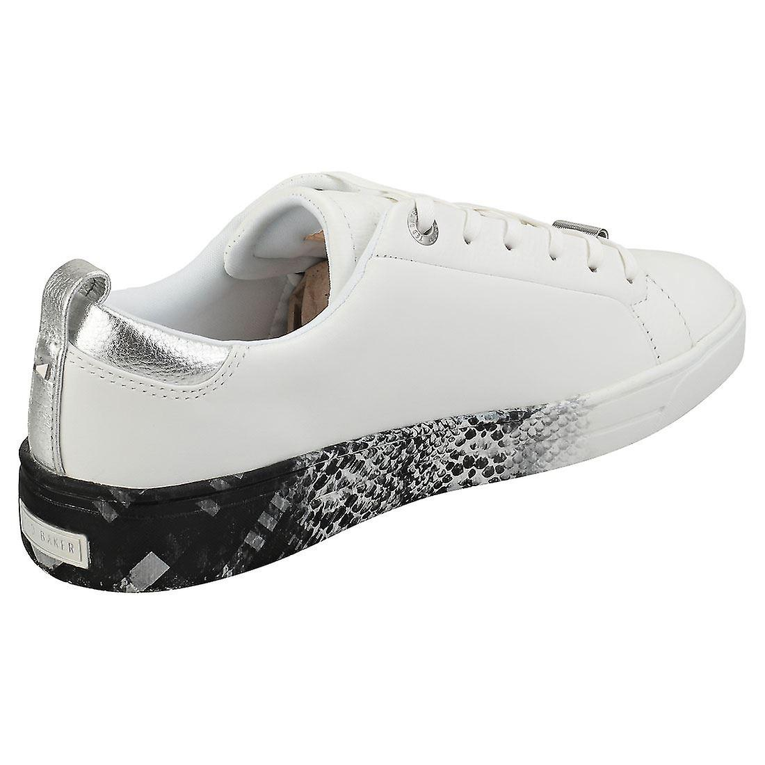 Ted Baker Relina Womens Fashion Trainers in White Black