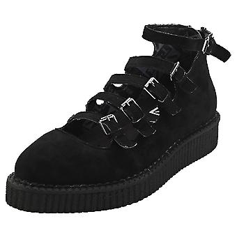 T.U.K Pointed Creeper Ballet Womens Platform Shoes in Black