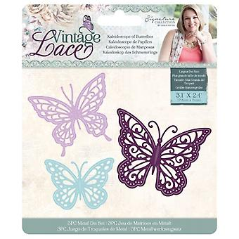 Crafter's Companion Vintage Lace Dies Kaleidoscope of Butterflies