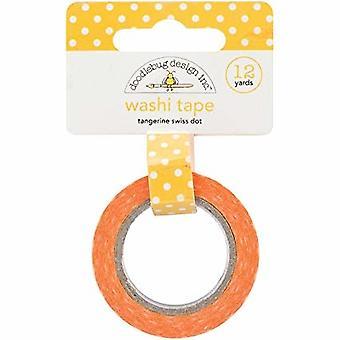 Doodlebug Design Tangerine Swiss Dot Washi Tape
