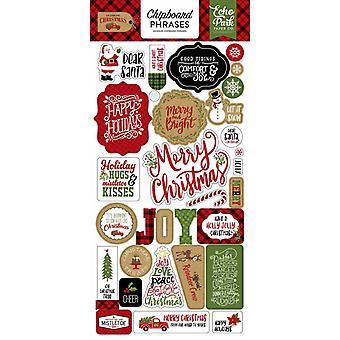 صدى بارك احتفال عيد الميلاد 6x12 بوصة العبارات تشيببورد