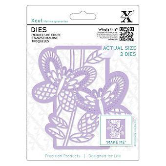 Xcut Dies Butterfly Panel (2pcs) (XCU 503127)