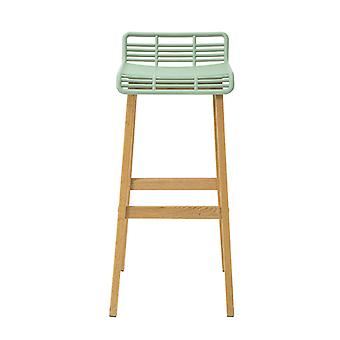 SoBuy FST76-GR, Kitchen Breakfast Barstool, Bar Stool con PP Seat & Oak Wood Legs