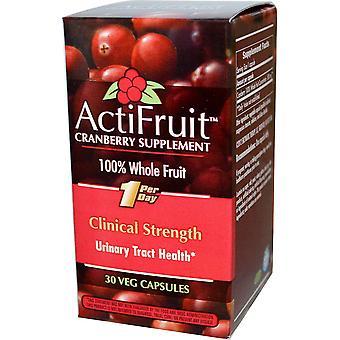 Thérapie enzymatique, Supplément de canneberge ActiFruit, capsule de 30 légumes