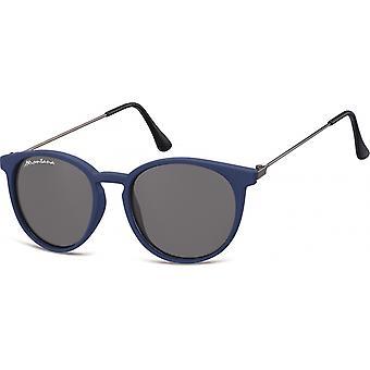 Sonnenbrille Unisex    Panto mattblau (