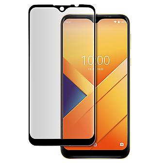 Wiko Y81 9H original tempered glass film with full contoured cover - black