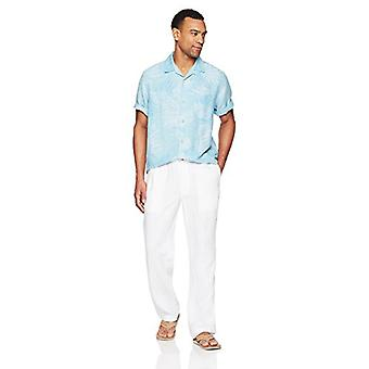 28 Palms Men's Relaxed-Fit Linen Pant with Drawstring, Bright White, XX-Large...